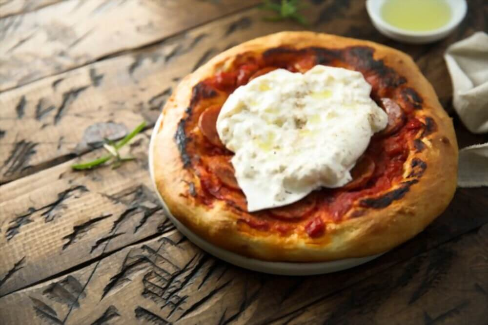 Spicy Sausage Pizza With Burrata