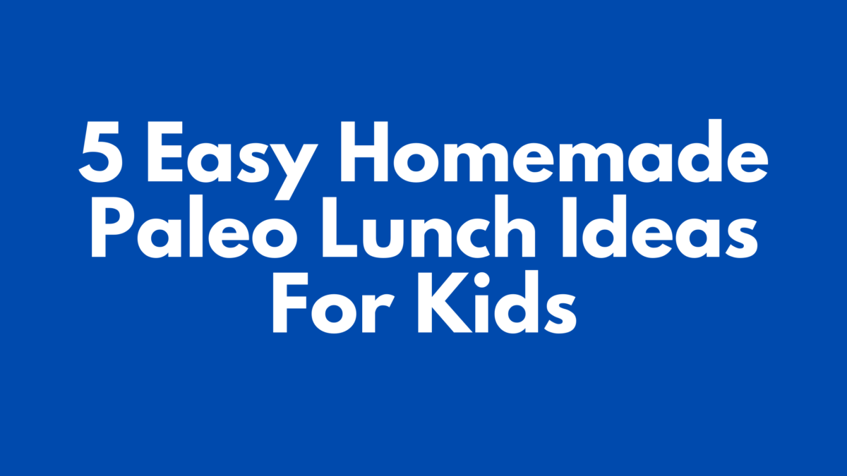 Paleo Lunch Ideas For Kids